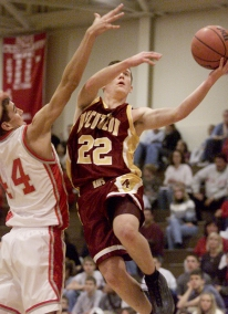 Avery Sheets goes up for two points during the game at West Lafayette High School.